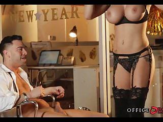 Large tit coworker bonks at office party