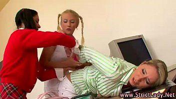 Lezdom strumpets overcome chick