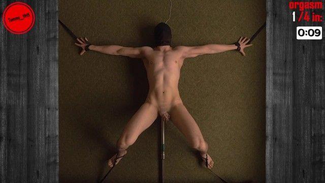 Macchina di pompaggio prostata che munge 4 orgasmi rimorchio femdom trattenuto a mani libere
