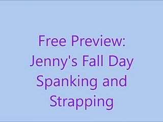 Free preview: jennys fall day drubbing and belting