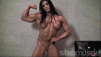 Angela salvagno stripped female bodybuilder undress