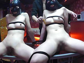 Name tag and electro torture,two cuties