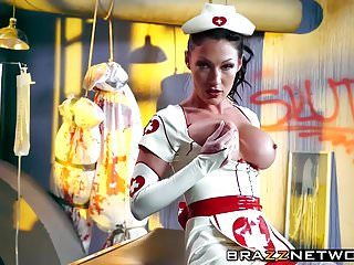 Oiled up lesbo nurse whores in hot outfits love scissoring