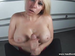 Verbal humiliation of petite shlong by breasty golden-haired milf