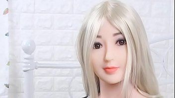 Blond oriental schoolgirl sex doll with biggest mangos expecting for cumshots