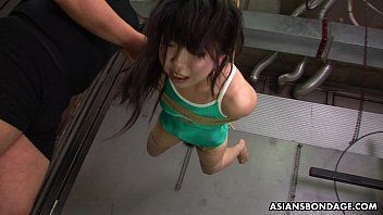 Oriental freak fastened up to be sexually tortured by some pervs